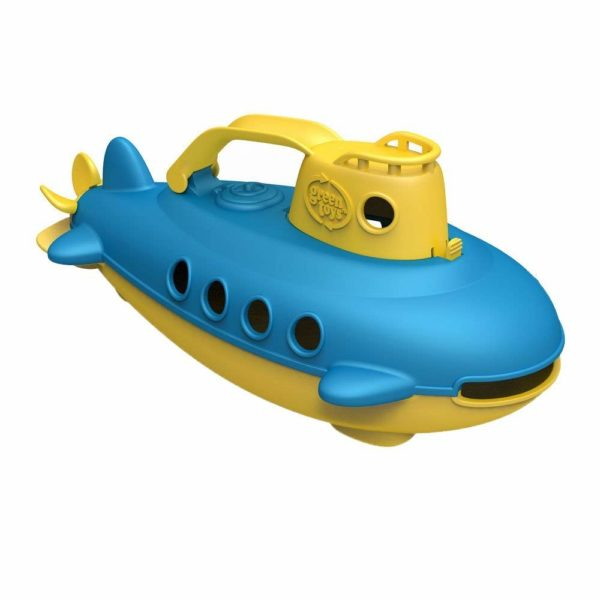 green toy submarine